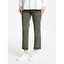 Buy John Lewis Washed Roll Up Chinos, Olive Online at johnlewis.com