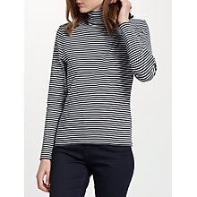 Buy John Lewis Stripe Jersey Roll Neck Top Online at johnlewis.com