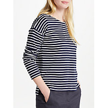 Buy John Lewis Long Sleeve Stripe Top, Navy/White Online at johnlewis.com