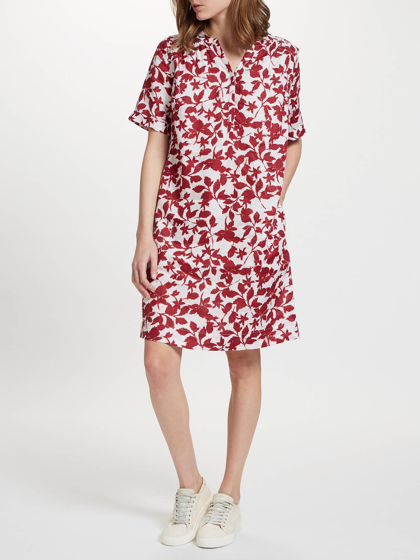 c1eab65368 ... Buy John Lewis Smudge Floral Print Linen V-Neck Dress