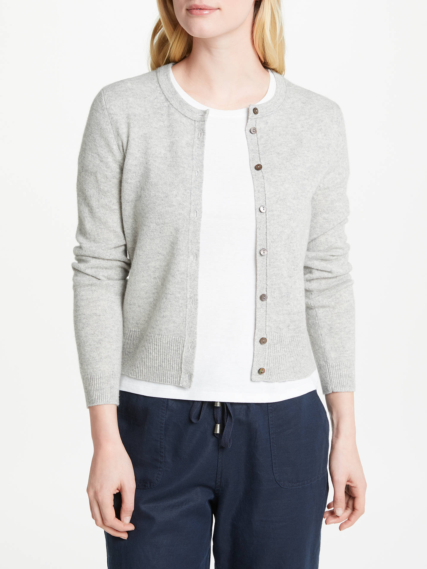 Collection WEEKEND by John Lewis Cashmere Crew Neck Cardigan