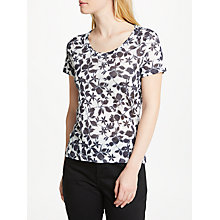Buy John Lewis Smudge Floral Print Jersey Top Online at johnlewis.com