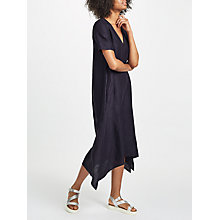 Buy John Lewis Handkerchief Hem Dress, Navy Online at johnlewis.com