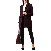 Buy Hobbs Tia Coat, Bordeaux Online at johnlewis.com