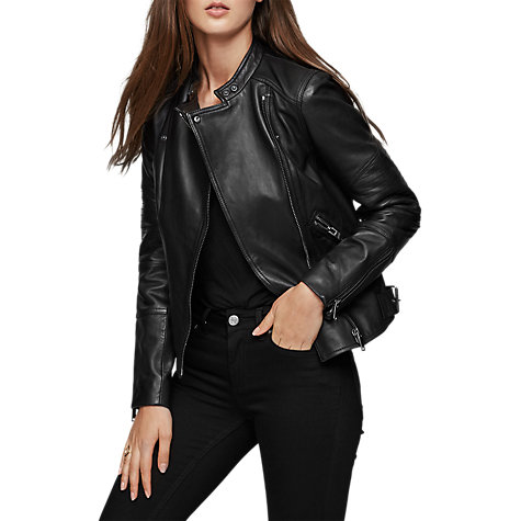 Black leather jacket john lewis