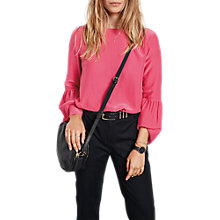 Buy hush Andes Bell Sleeve Top, Bright Pink Online at johnlewis.com