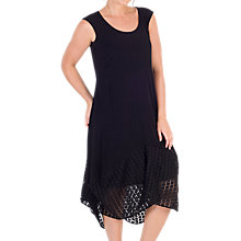 Buy Chesca Jersey Mesh Square Hem Dress, Black Online at johnlewis.com