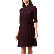 Buy Hobbs Lois Shirt Dress, Burgundy Online at johnlewis.com