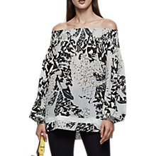 Buy Reiss Christa Off The Shoulder Abstract Print Blouse, Multi Online at johnlewis.com