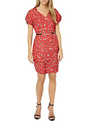 Damsel in a Dress Haversham Print Dress, Red