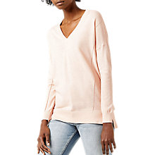 Buy Warehouse V-Neck Longline Jumper Online at johnlewis.com
