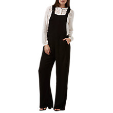 Buy Sugarhill Boutique Seanna Apron Wide Leg Dungaree, Black Online at johnlewis.com