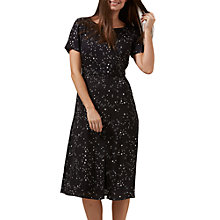 Buy Sugarhill Boutique Cassie Starry Sky Dress, Black/White Online at johnlewis.com