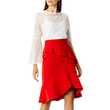 Buy Coast Keegan Ruffle Skirt, Red Online at johnlewis.com
