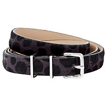 Buy Hobbs Leather Katie Belt, Black Online at johnlewis.com
