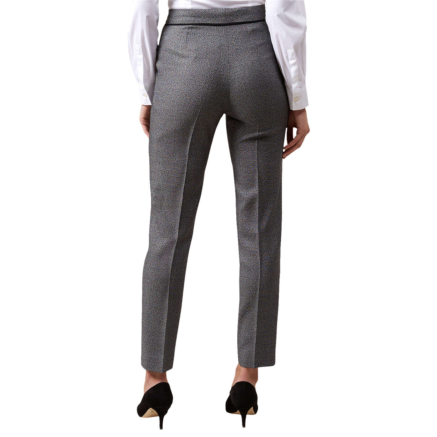 BuyHobbs Marlene Trousers, Black Ivory, 10 Online at johnlewis.com