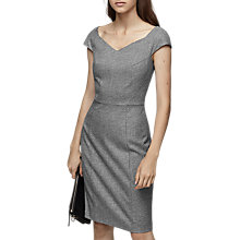 Buy Reiss Hampstead Tailored Knee Length Dress, Black/White Online at johnlewis.com