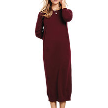 Buy hush Althea Knitted Dress, Burgundy Online at johnlewis.com