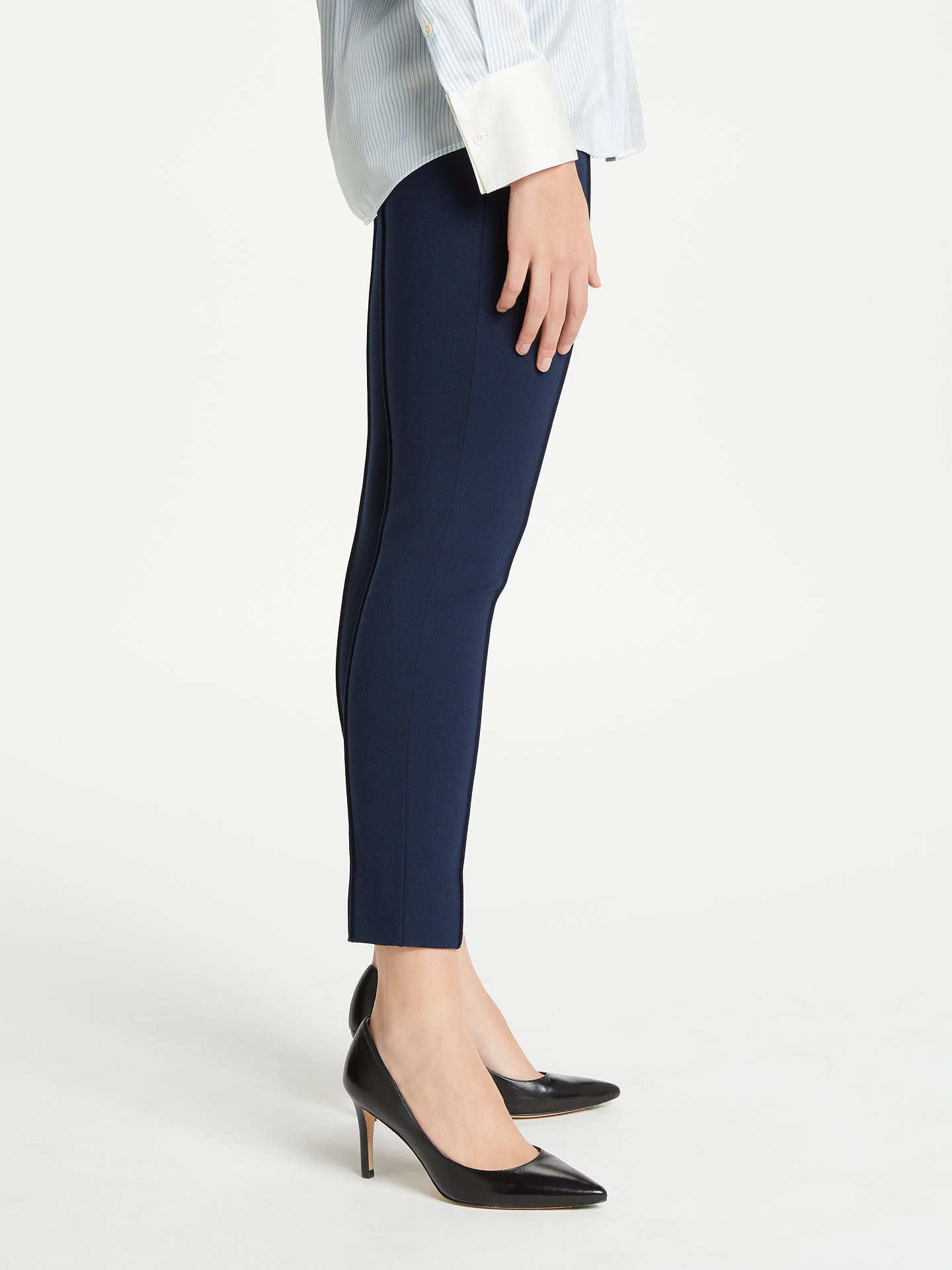 Buy Winser London Emma Miracle Pintuck Capri Trousers, Midnight Navy, 8 Online at johnlewis.com