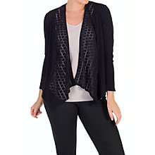 Buy Chesca Jersey Mesh Square Trim Shrug, Black Online at johnlewis.com