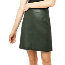 Buy Warehouse Faux Leather Skirt, Khaki Online at johnlewis.com