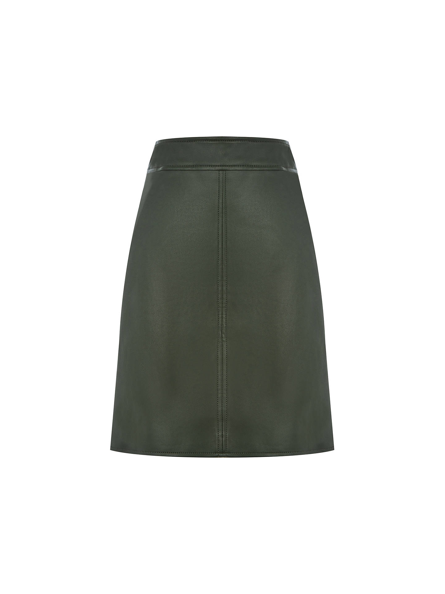 12abf71618 Warehouse Khaki Faux Leather Skirt – DACC