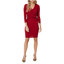 Buy Damsel in a dress Twist Knot Jersey Dress, Red Online at johnlewis.com
