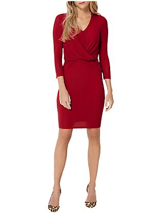 Damsel in a Dress Twist Knot Jersey Dress, Red