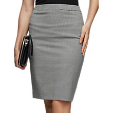Buy Reiss Mason Tailored Houndstooth Formal Skirt, Black/White Online at johnlewis.com