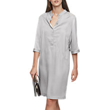Buy Reiss Mccarthy Oversized Shirt Dress, Silver Grey Online at johnlewis.com