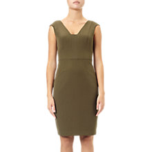 Buy Adrianna Papell Stretch Crepe Seamed Sheath Dress, Olive Online at johnlewis.com