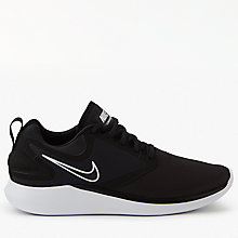 Buy Nike LunarSolo Men's Running Shoes, Black/White Online at johnlewis.com