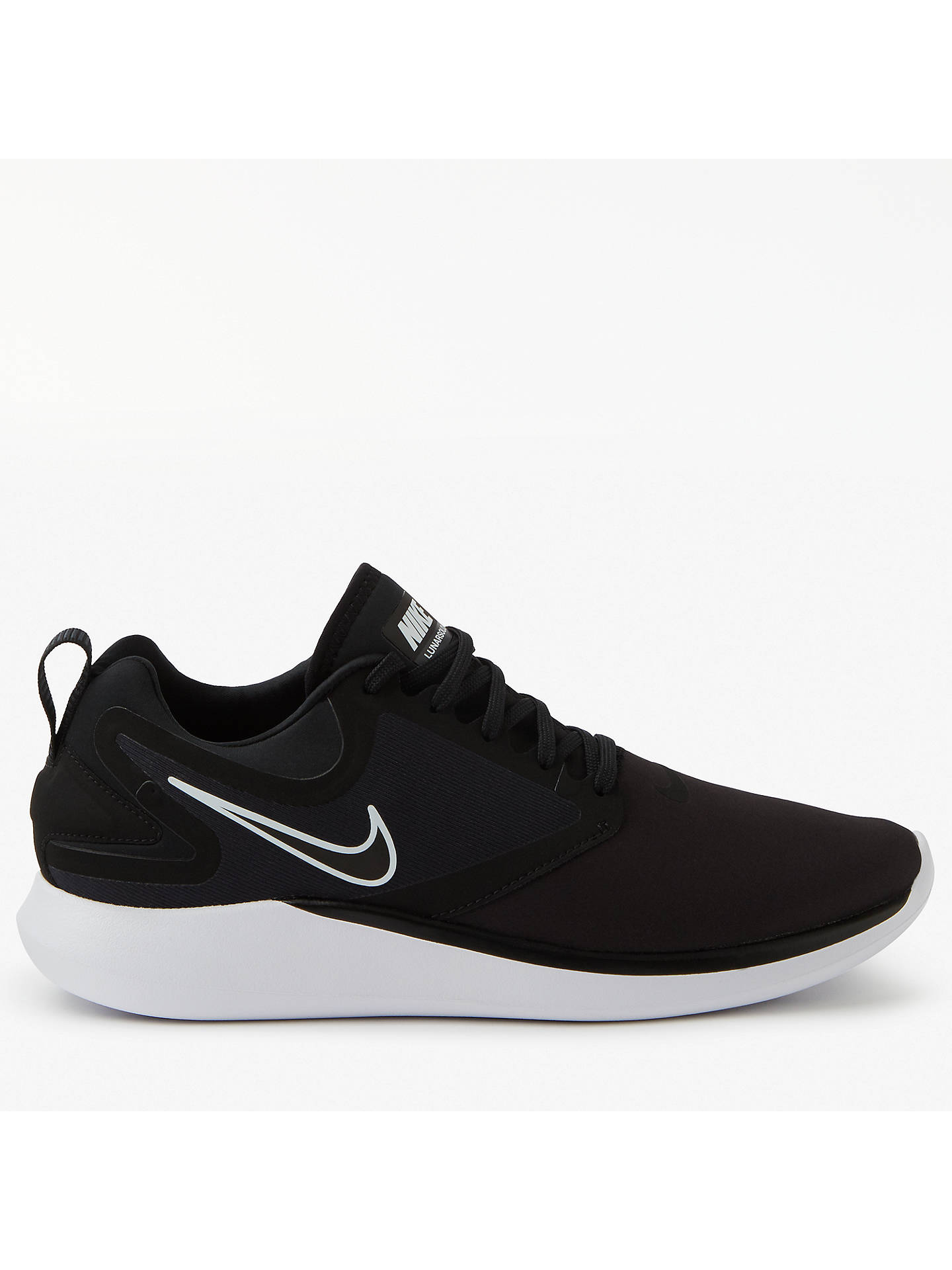 size 40 7e9ce 87be2 BuyNike LunarSolo Men s Running Shoes, Black White, 7 Online at johnlewis.  ...