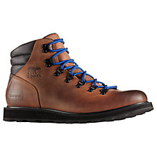 Buy Sorel Madson Leather Men's Hiking Boots, Tan Online at johnlewis.com
