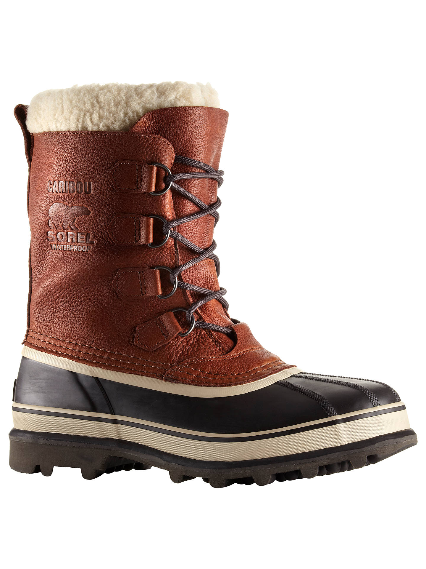 374c7060b8a3ff Buy Sorel Caribou Men's Winter Snow Boots, Brown, 7 Online at johnlewis. ...