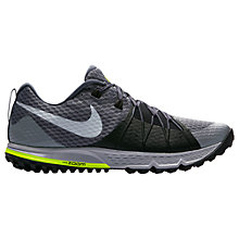 Buy Nike Air Zoom Wildhorse 4 Men's Running Shoes, Dark Grey Online at johnlewis.com