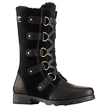 Buy Sorel Emelie Lace Women's Snow Boots, Black Online at johnlewis.com