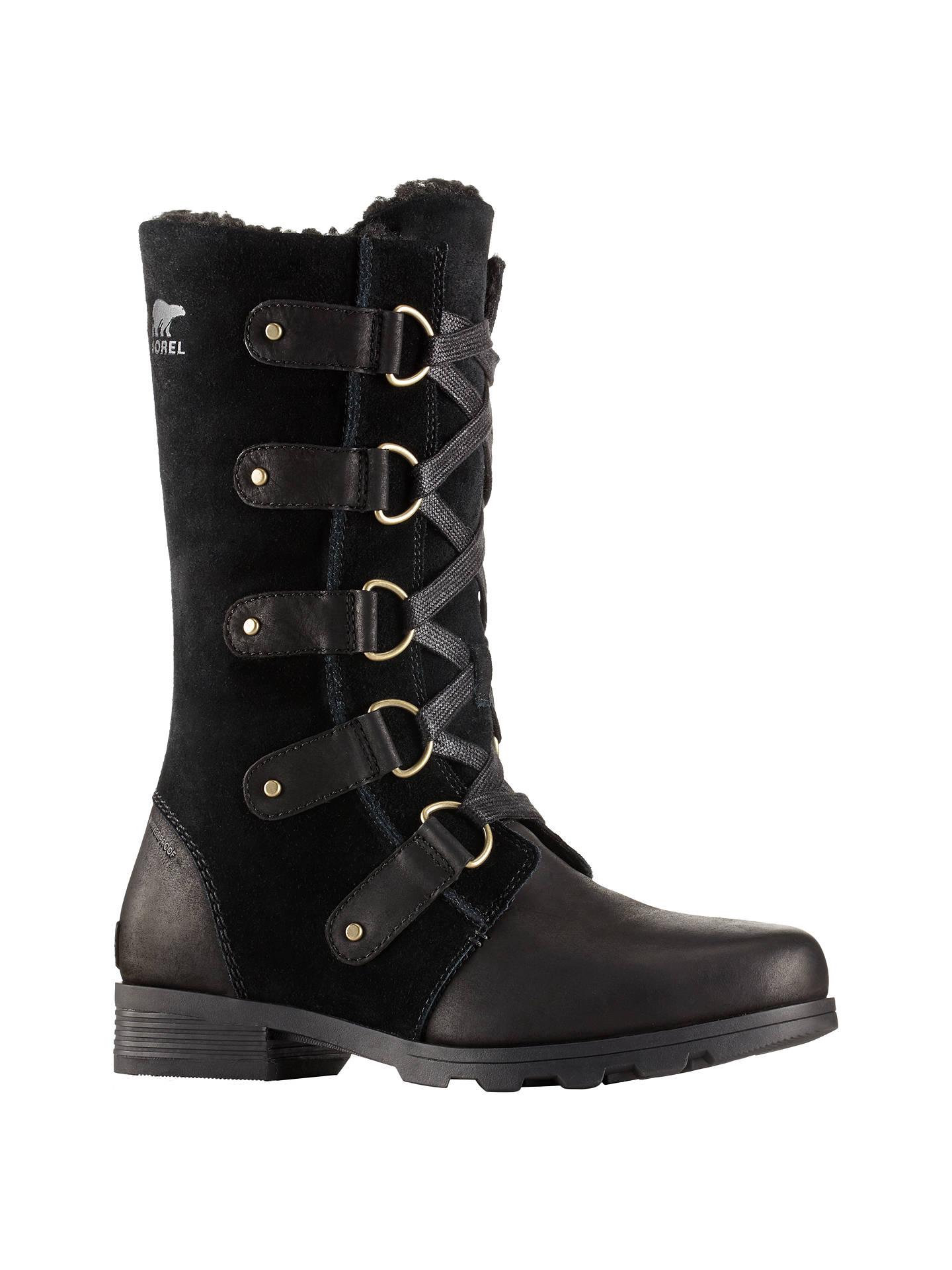 5ab13e0a120d0 Sorel Emelie Lace Women's Snow Boots, Black at John Lewis & Partners