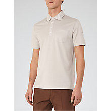 Buy Reiss Spirito Pique Cotton Polo Shirt, Stone Online at johnlewis.com