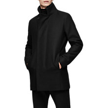 Buy Reiss Curraghmore Funnel Collar Jacket, Black Online at johnlewis.com