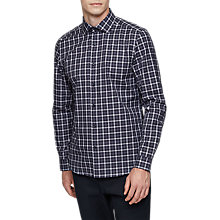 Buy Reiss Foxtrot Check Shirt, Blue Online at johnlewis.com