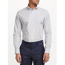 Buy John Lewis Made in Italy Ditsy Print Tailored Fit Shirt, White/Blue Online at johnlewis.com