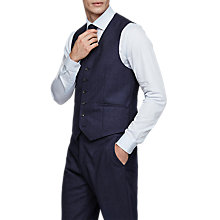 Buy Reiss Robin Modern Fit Waistcoat, Airforce Blue Online at johnlewis.com