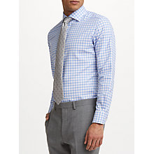 Buy John Lewis Thomas Mason Oxford Check Tailored Fit Shirt, Sky Blue Online at johnlewis.com