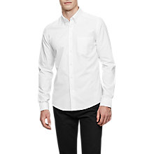 Buy Reiss Ainslee Long Sleeve Shirt, White Online at johnlewis.com