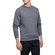 Buy Reiss Fenton Crew Neck Jumper, Blue Smoke Online at johnlewis.com