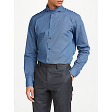 Buy John Lewis Woven in Italy Ditsy Print Tailored Fit Shirt, Navy Online at johnlewis.com