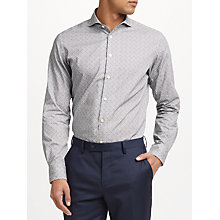 Buy John Lewis Made in Italy Floral Print Tailored Fit Shirt, Grey Online at johnlewis.com