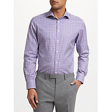 Buy John Lewis Thomas Mason Oxford Check Tailored Fit Shirt, Berry Online at johnlewis.com