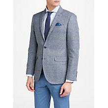 Buy John Lewis Woven in England Check Tailored Blazer, Grey/Blue Online at johnlewis.com